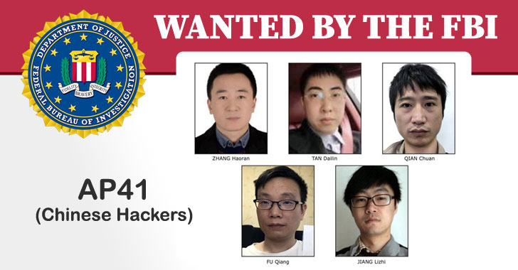 Fbi Adds 5 Chinese Apt41 Hackers To Its Cyber's Most