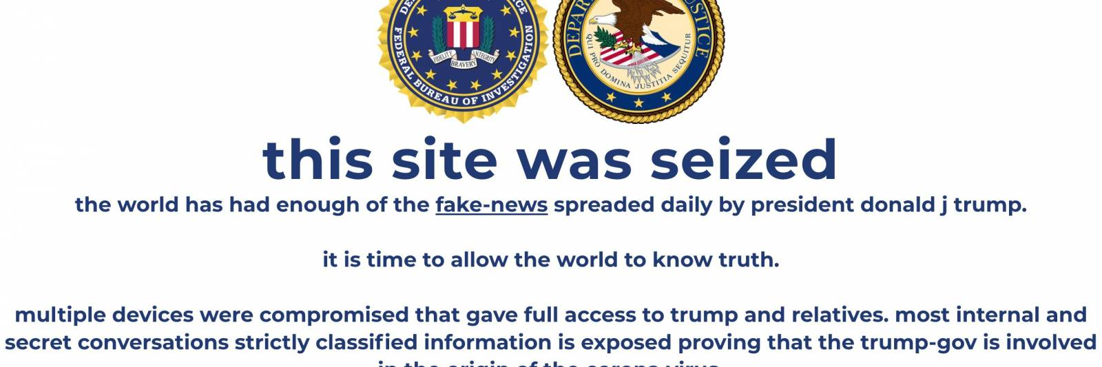 Trump Campaign Website Defaced By Cryptocurrency Scam