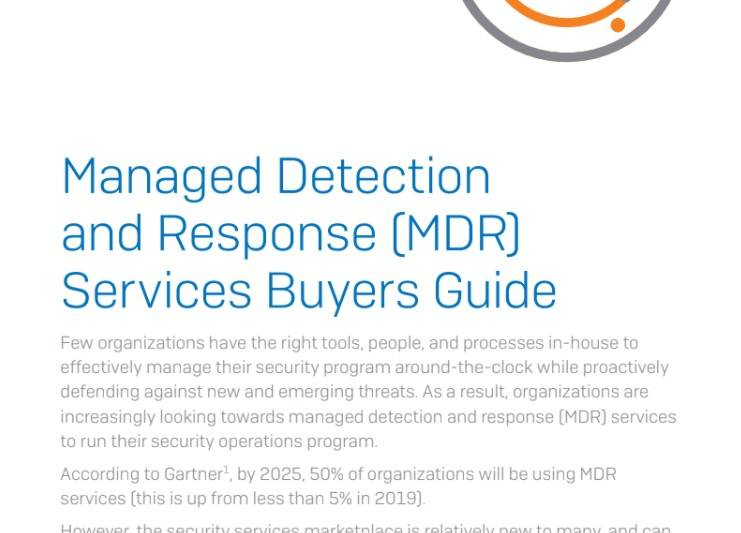 A Buyer's Guide To Managed Detection And Response (mdr) Services
