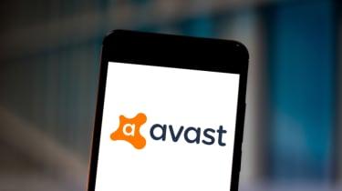Avast antivirus software on a smartphone