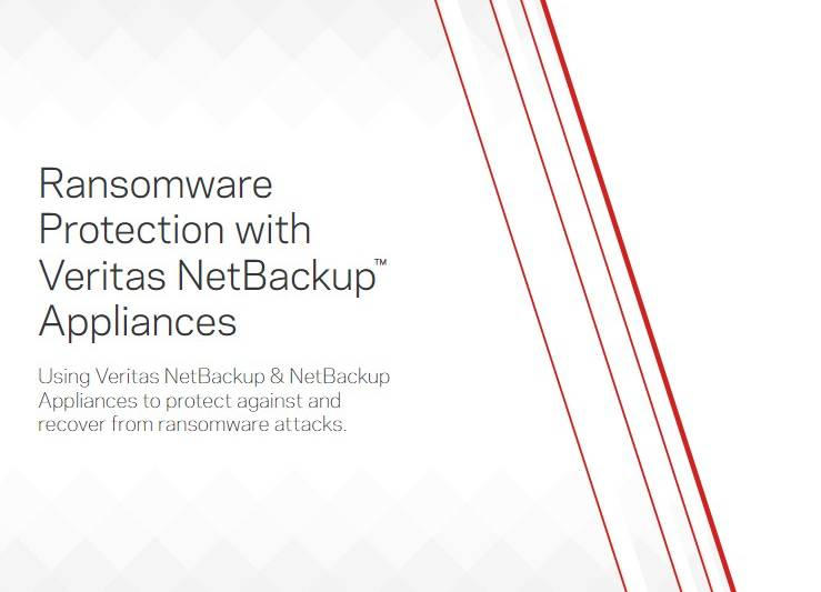 Ransomware Protection With Veritas Netbackup Appliances
