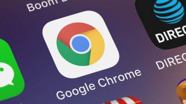 The Chrome app on a mobile phone