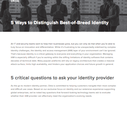 five critical questions to ask your identity provider