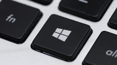 The Windows (start menu) key on a keyboard