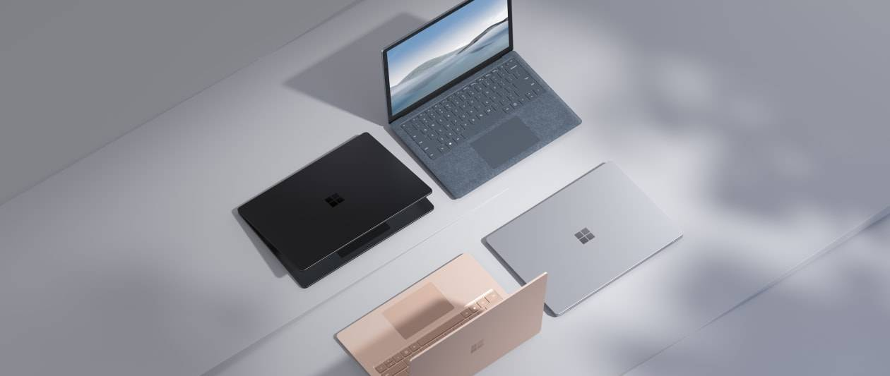 microsoft surface laptop 4 official with amd and intel cpu