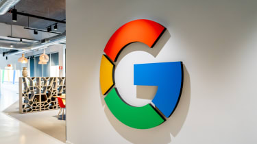 A Google kitchen area at one of its offices
