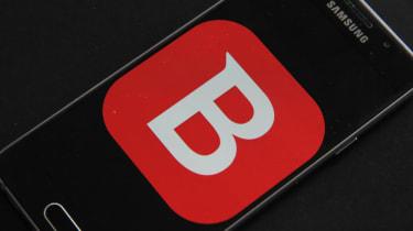 Bitdefender logo on smartphone