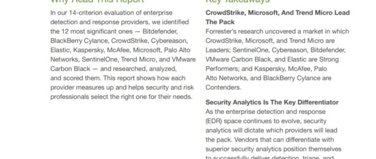the forrester wave™ enterprise detection and response, q1 2020