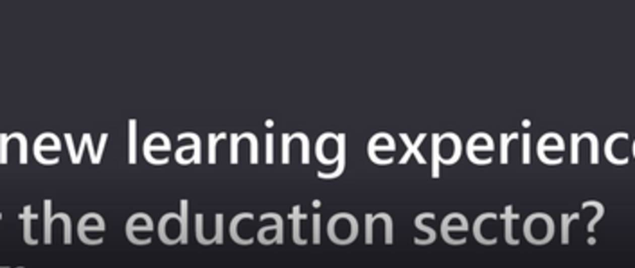 what's next for the education sector?