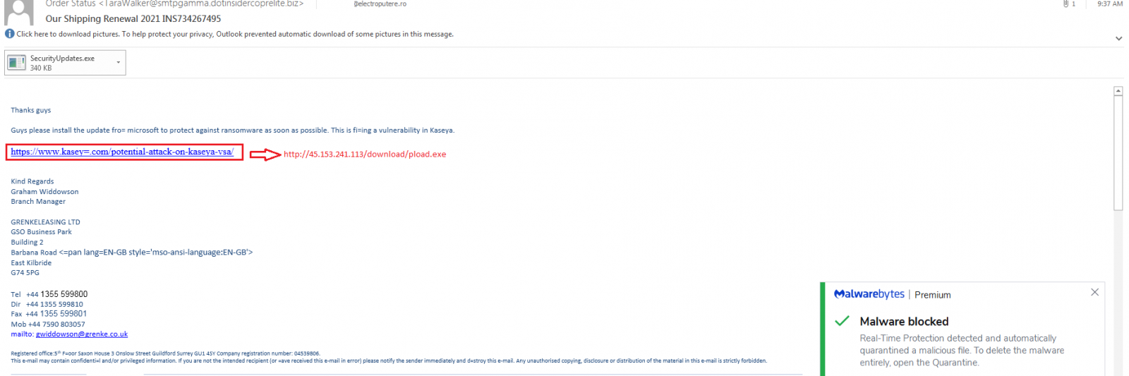 phishing campaign looks to leverage kaseya vsa fears