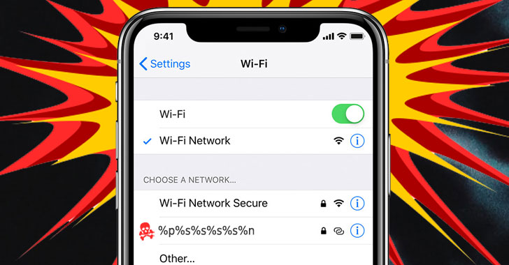 turns out that low risk ios wi fi naming bug can hack