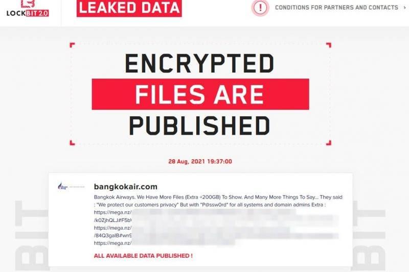 lockbit jumps its own countdown, publishes bangkok air files