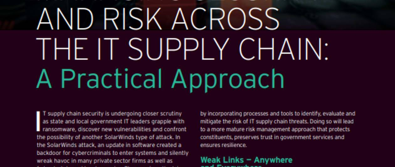 managing security and risk across the it supply chain: a