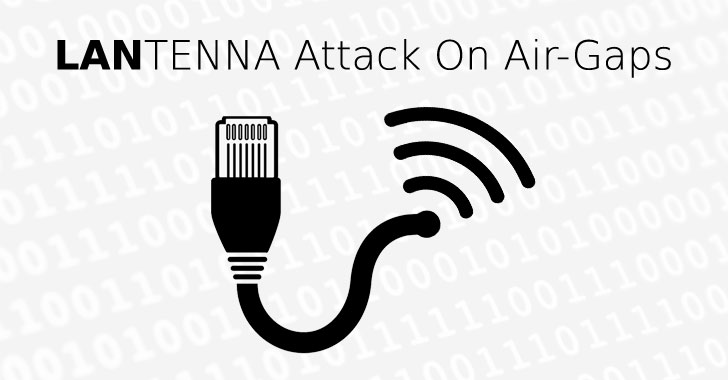 creating wireless signals with ethernet cable to steal data from