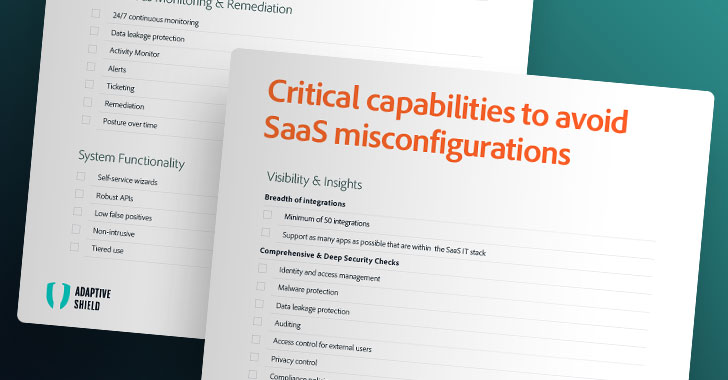 the ultimate saas security posture management (sspm) checklist